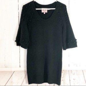 Black Angora Juicy Couture Sweater Dress